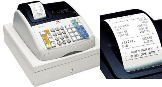 Caja registradora Olivetti ECR-7700 con cajón