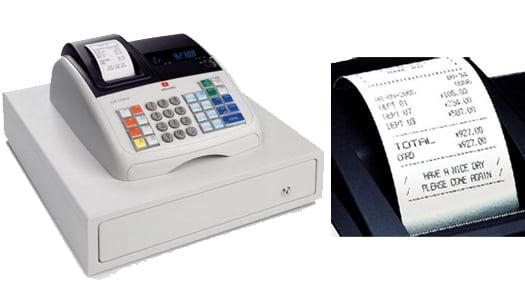 Caja registradora Olivetti que cumple con numeración correlativa exigida
