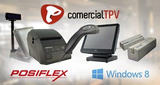 Todos los productos Posiflex compatible con Windows 8