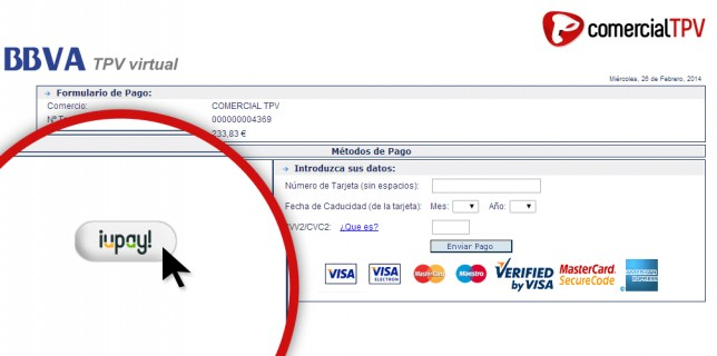 Sistema de pago iupay