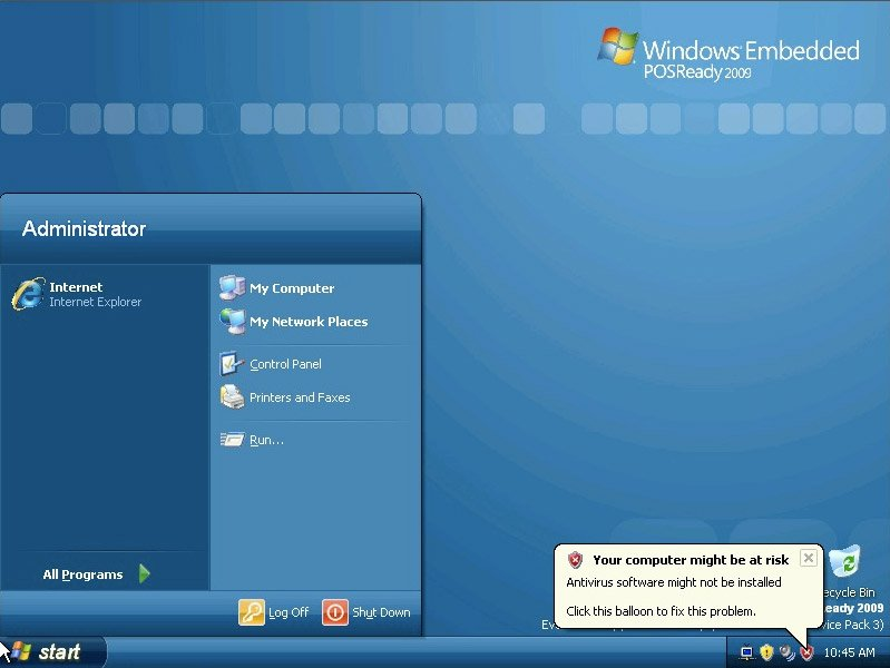 Windows Embedded POSReady 2009 en TPVs - Comercial TPV